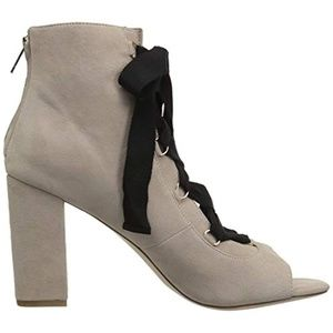 Joie Adonia Lace Up Tie Open Toe Nude Bootie NWT